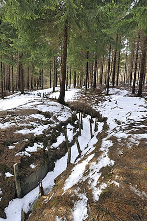 World War I battlefield trench